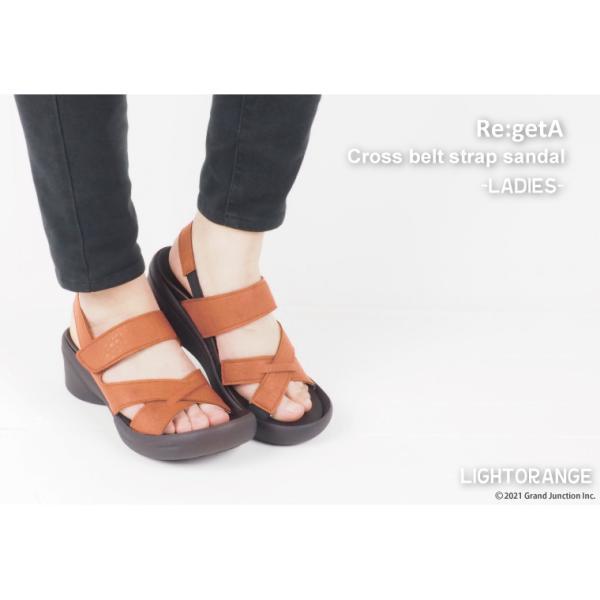 リゲッタ サンダル レディース ウェッジソール ストラップ 幅広 甲高 履きやすい ベルクロ グミ インソール sandal|gjweb|10