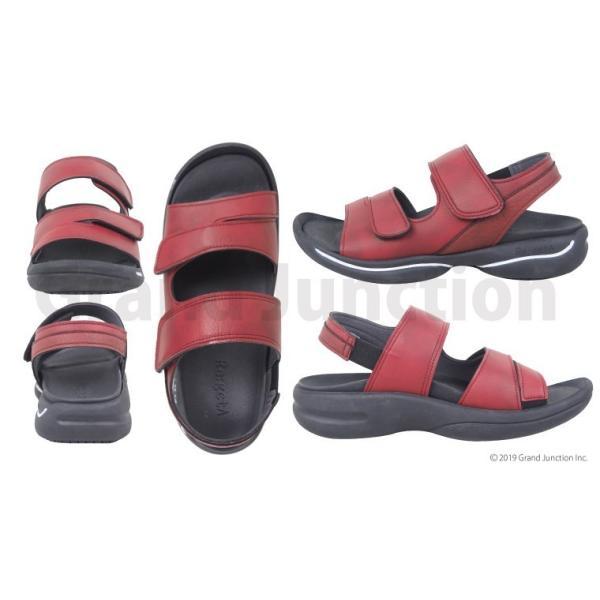 リゲッタ サンダル レディース オフィス ストラップ 甲高 幅広 履きやすい ベルクロ 防滑 グミ インソール sandal gjweb 12