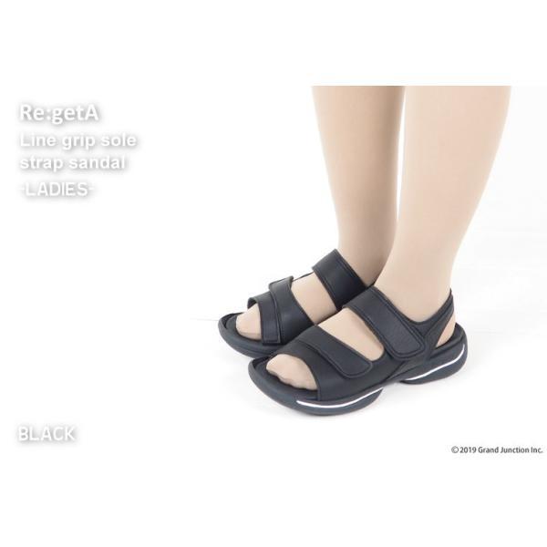 リゲッタ サンダル レディース オフィス ストラップ 甲高 幅広 履きやすい ベルクロ 防滑 グミ インソール sandal gjweb 05