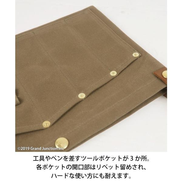 ウエストバッグ ガレージバッグ キャンバス 道具入れ エプロン ヒップバッグ ベルト メンズ レディース おしゃれ 軽い 日本製 キャンベット waist bag gjweb 11