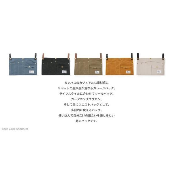 ウエストバッグ ガレージバッグ キャンバス 道具入れ エプロン ヒップバッグ ベルト メンズ レディース おしゃれ 軽い 日本製 キャンベット waist bag gjweb 04