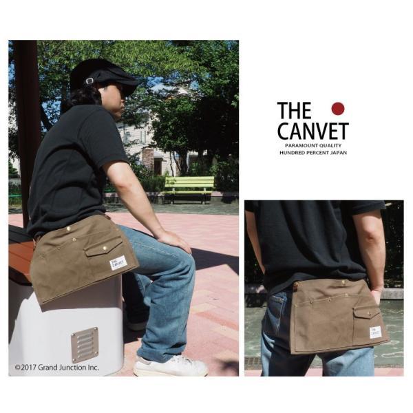 ウエストバッグ ガレージバッグ キャンバス 道具入れ エプロン ヒップバッグ ベルト メンズ レディース おしゃれ 軽い 日本製 キャンベット waist bag gjweb 06