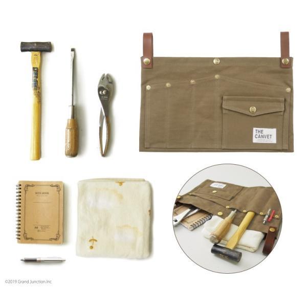 ウエストバッグ ガレージバッグ キャンバス 道具入れ エプロン ヒップバッグ ベルト メンズ レディース おしゃれ 軽い 日本製 キャンベット waist bag gjweb 08
