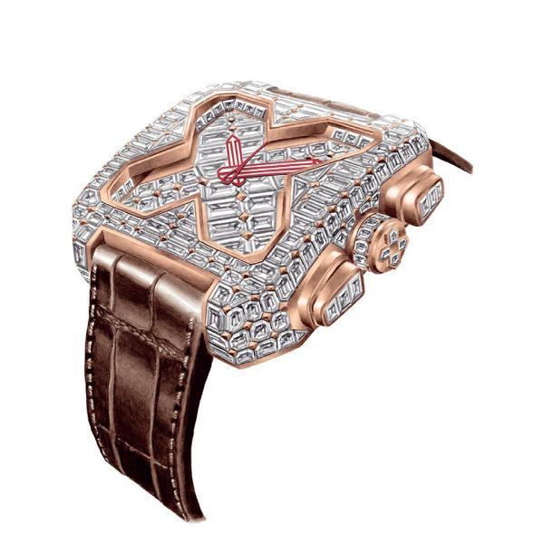 【日本正規総代理店】GVCHIANI(ブチアーニ)BIG SQUARE ROSE GOLD FULL DIAMOND TOURBILLON 18Kホワイトゴールド フルダイヤモンド 25カラット トゥールビヨン|gl-branding|02