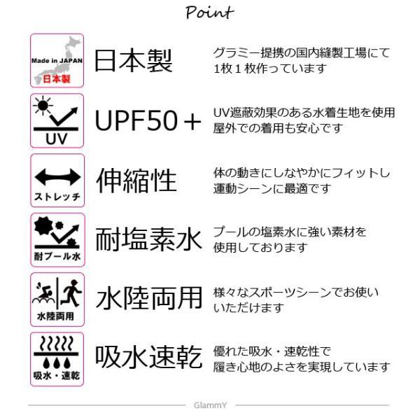 日本製 水着インナーショーツ レディース ボックスタイプ アンダーショーツ単品 大きいサイズあり ハイウエスト フィットネス 体型カバー メール便送料無料|glammyplus|12