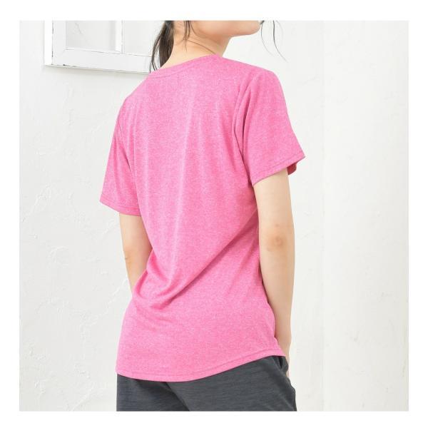 スポーツインナー レディース 速乾 吸汗 UVカット 紫外線カット ヨガ フィットネス / ロゴ入り半袖Tシャツ半袖 TULTEX タルテックス|glamore|10