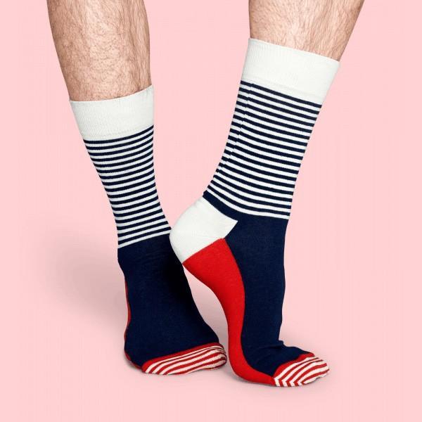 Happy Socks ハッピーソックス HALF STRIPE ( ハーフ ストライプ ) クルー丈 綿混 ソックス 靴下 ユニセックス メンズ&レディス 1A110005|glanage|04