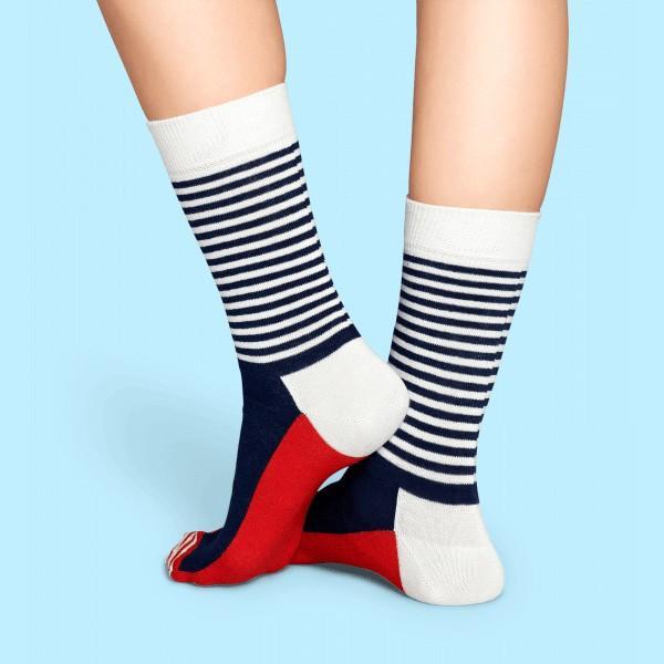 Happy Socks ハッピーソックス HALF STRIPE ( ハーフ ストライプ ) クルー丈 綿混 ソックス 靴下 ユニセックス メンズ&レディス 1A110005|glanage|05
