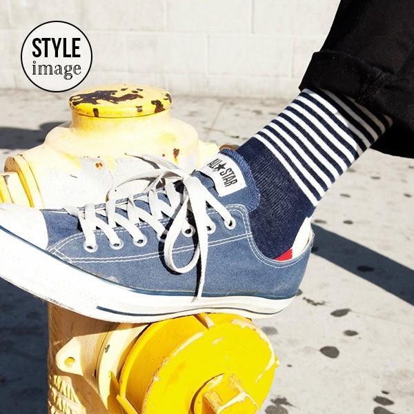Happy Socks ハッピーソックス HALF STRIPE ( ハーフ ストライプ ) クルー丈 綿混 ソックス 靴下 ユニセックス メンズ&レディス 1A110005|glanage|06
