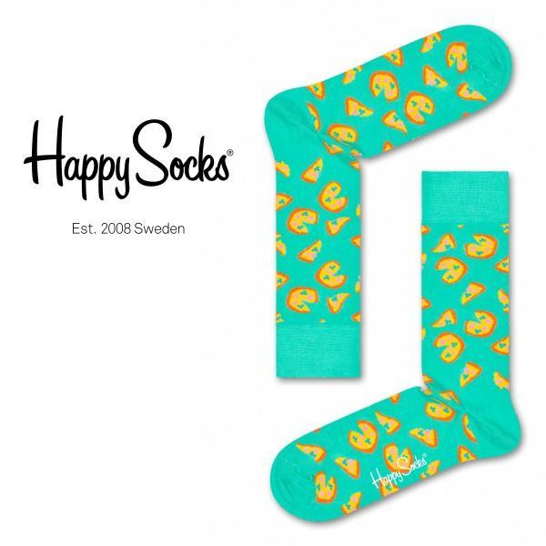 Happy Socks ハッピーソックス JUNK FOOD PIZZA ( ピザ ) クルー丈 綿混 ソックス 靴下 ユニセックス メンズ&レディス 1A113016|glanage