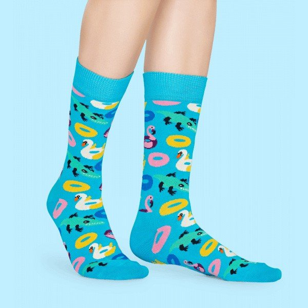 Happy Socks ハッピーソックス POOL PARTY ( プール パーティー ) クルー丈 綿混 ソックス 靴下 ユニセックス メンズ&レディス 1A113025|glanage|05