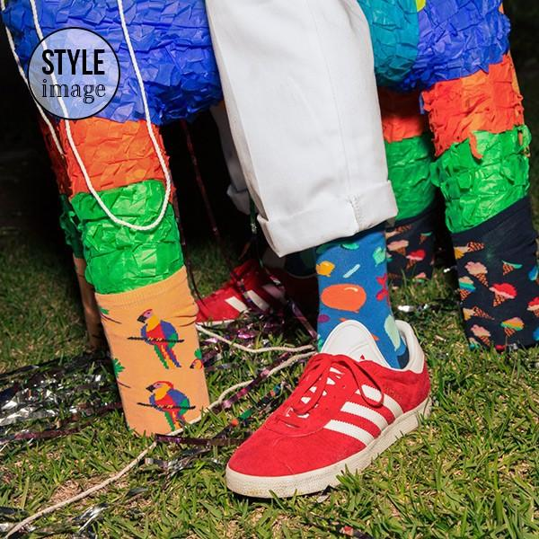 Happy Socks ハッピーソックス POOL PARTY ( プール パーティー ) クルー丈 綿混 ソックス 靴下 ユニセックス メンズ&レディス 1A113025|glanage|07