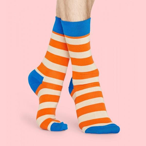 Happy Socks ハッピーソックス STRIPE ( ストライプ ) クルー丈 綿混 ソックス 靴下 ユニセックス メンズ&レディス 1A113030|glanage|04