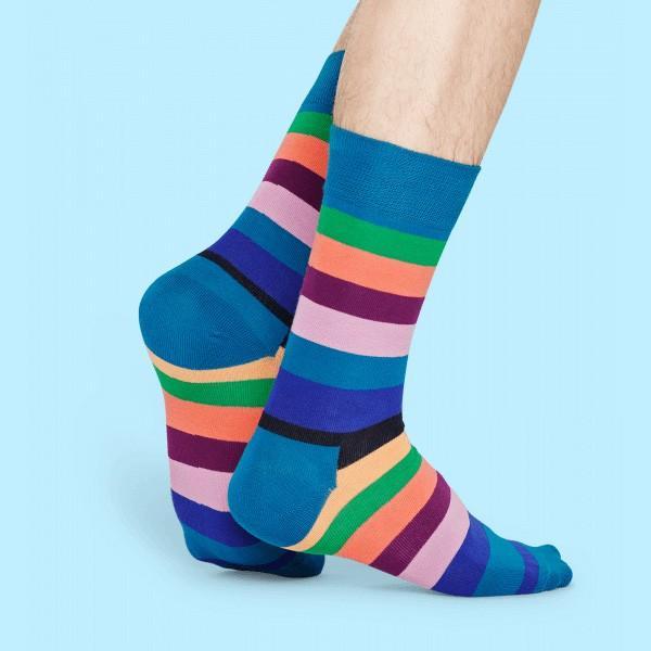 Happy Socks ハッピーソックス STRIPE ( ストライプ ) クルー丈 綿混 ソックス 靴下 ユニセックス メンズ&レディス 1A113030|glanage|05