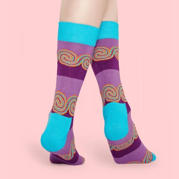 Happy Socks ハッピーソックス WINDY STRIPE ( ウィンディ ストライプ ) クルー丈 綿混 ソックス 靴下 ユニセックス メンズ&レディス 1A113035|glanage|05