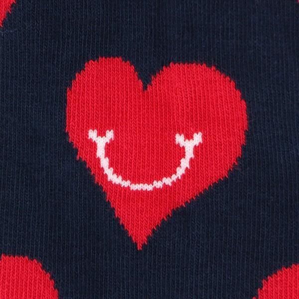 Happy Socks ハッピーソックス SMILEY HEART ( スマイリー ハート ) スニーカー丈 パフォーマンス 綿混 ソックス 靴下ユニセックス メンズ&レディス 1A123008|glanage|06