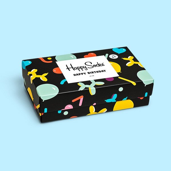 Happy Socks ハッピーソックス Singing Birthday Box BALLOON ANIMAL 音が鳴る!3足組 ギフトセット クルー丈 ソックス 靴下 GIFT BOX ユニセックス 1A143002|glanage|05