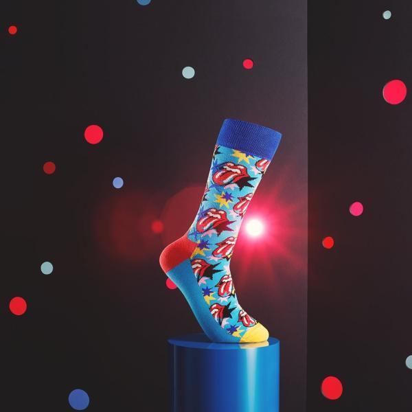Happy Socks × The Rolling Stones ( ローリングストーンズ ) I GOT THE BLUES クルー丈 ソックス 靴下 ユニセックス 1A413003|glanage