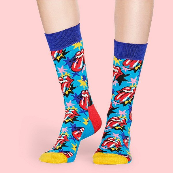 Happy Socks × The Rolling Stones ( ローリングストーンズ ) I GOT THE BLUES クルー丈 ソックス 靴下 ユニセックス 1A413003|glanage|04