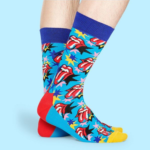 Happy Socks × The Rolling Stones ( ローリングストーンズ ) I GOT THE BLUES クルー丈 ソックス 靴下 ユニセックス 1A413003|glanage|05