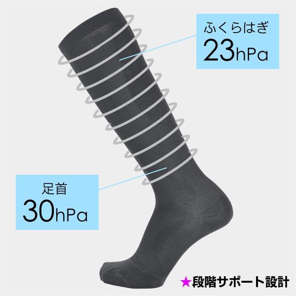 着圧ハイソックス 男性用 ナイガイ BODY CLOTHING(ボディクロージング) アーチフィットサポート メンズ 靴下 2252-950 ポイント10倍|glanage|04