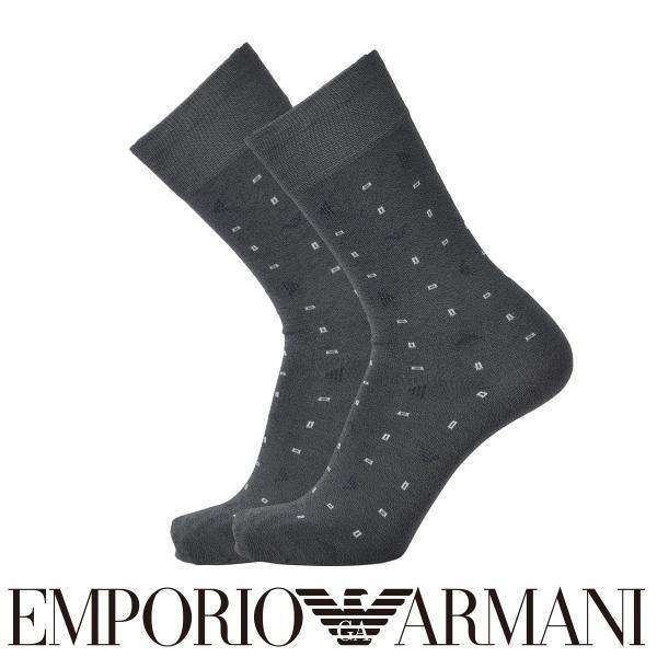EMPORIO ARMANI エンポリオ アルマーニ ビジネス Dress スクエアドット 強撚糸使用 足底メッシュ クルー丈 メンズ 紳士 ソックス 靴下 ポイント10倍|glanage