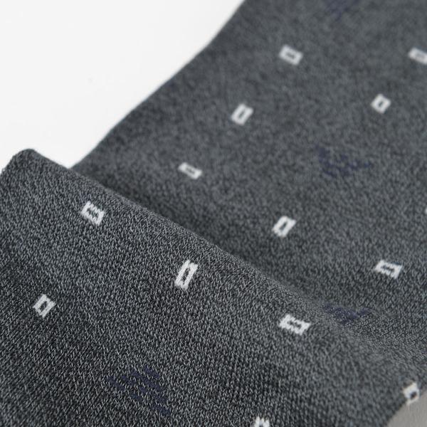 EMPORIO ARMANI エンポリオ アルマーニ ビジネス Dress スクエアドット 強撚糸使用 足底メッシュ クルー丈 メンズ 紳士 ソックス 靴下 ポイント10倍|glanage|04