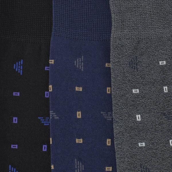 EMPORIO ARMANI エンポリオ アルマーニ ビジネス Dress スクエアドット 強撚糸使用 足底メッシュ クルー丈 メンズ 紳士 ソックス 靴下 ポイント10倍|glanage|05