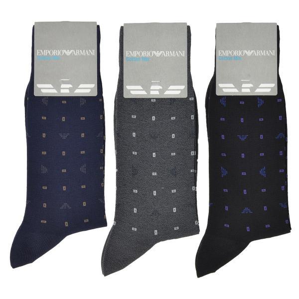 EMPORIO ARMANI エンポリオ アルマーニ ビジネス Dress スクエアドット 強撚糸使用 足底メッシュ クルー丈 メンズ 紳士 ソックス 靴下 ポイント10倍|glanage|06