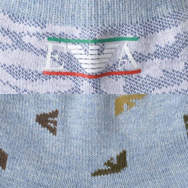 EMPORIO ARMANI エンポリオ アルマーニ NEWリバーシブル スニーカー丈 メンズ 紳士 ソックス 靴下 ポイント10倍|glanage|04