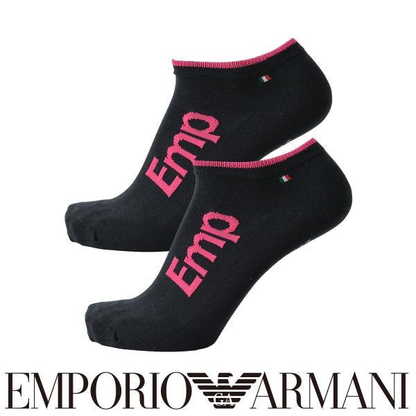 EMPORIO ARMANI エンポリオ アルマーニ スポーツ EMPロゴ 足底滑り止め付 スニーカー丈 メンズ 紳士 ソックス 靴下 ポイント10倍|glanage