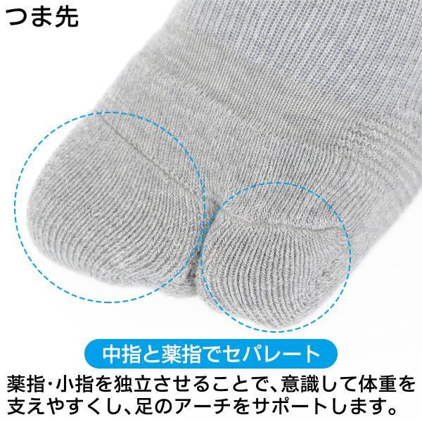 ウォーキング 2本指 足袋型 メンズ 靴下 NAIGAI PERFORMANCE ナイガイ パフォーマンス 総パイル仕様 クルー丈 ソックス 2332-206|glanage|05