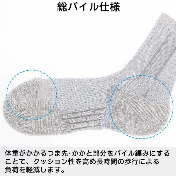 ウォーキング 2本指 足袋型 メンズ 靴下 NAIGAI PERFORMANCE ナイガイ パフォーマンス 総パイル仕様 クルー丈 ソックス 2332-206|glanage|08