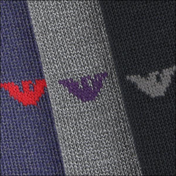 EMPORIO ARMANI エンポリオ アルマーニ 綿混 メンズ カジュアル ソックス 靴下 イーグルロゴ ドット クルー丈 ソックス ポイント10倍|glanage|08