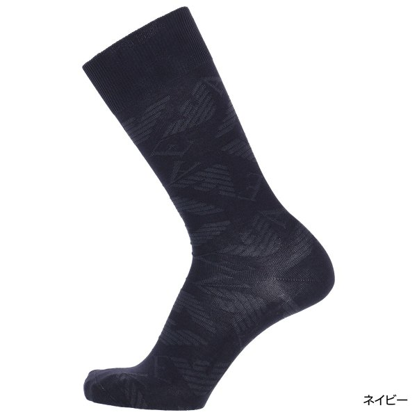 EMPORIO ARMANI エンポリオ アルマーニ メンズ ソックス 靴下 ロゴリンクス柄 クルー丈 カジュアル ソックス ポイント10倍|glanage|03