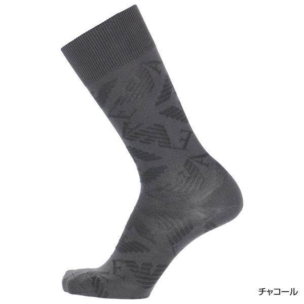 EMPORIO ARMANI エンポリオ アルマーニ メンズ ソックス 靴下 ロゴリンクス柄 クルー丈 カジュアル ソックス ポイント10倍|glanage|04