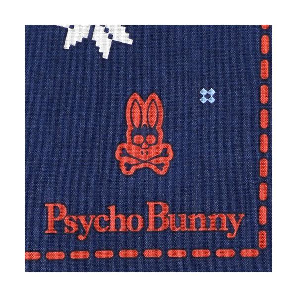 Psycho Bunny サイコバニー バンダナ風スノー柄 ハンカチ 綿100% ハンカチ 2442-919 メンズ プレゼント 誕生日 ギフト 彼氏 ポイント10倍|glanage|03