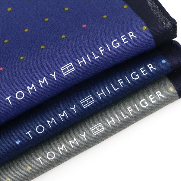 TOMMY HILFIGER トミーヒルフィガー ブランド ピンドット柄 綿100% ハンカチ 2582-103 ポイント10倍 ブランドギフト包装無料|glanage|04