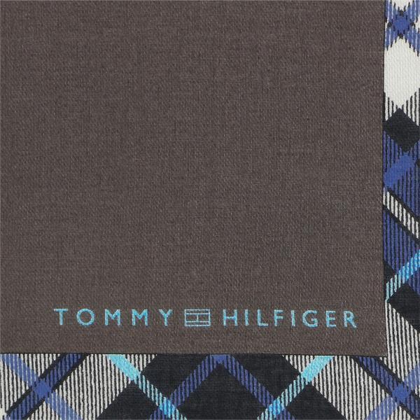 TOMMY HILFIGER トミーヒルフィガー パイピングチェック柄 ハンカチ メンズ プレゼント 贈答 ギフト ポイント10倍|glanage|06