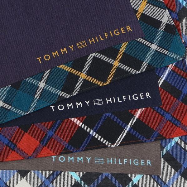 TOMMY HILFIGER トミーヒルフィガー パイピングチェック柄 ハンカチ メンズ プレゼント 贈答 ギフト ポイント10倍|glanage|07