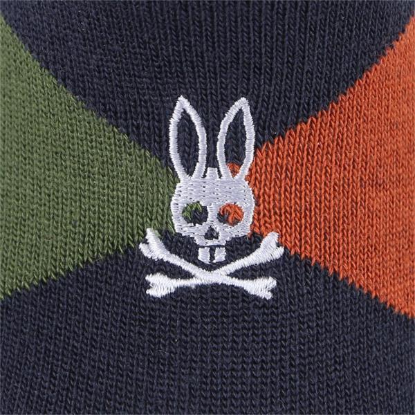 Psycho Bunny サイコバニー レディス 毛混 アーガイル フットカバー カバーソックス 冬用靴下 あったかソックス ポイント10倍|glanage|07