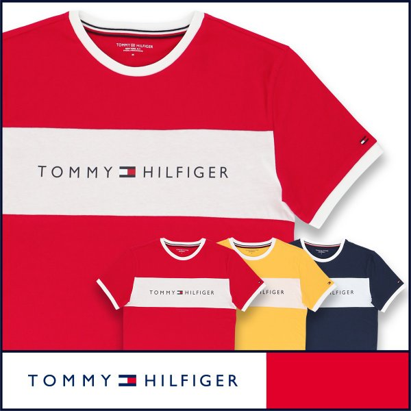 TOMMY HILFIGER トミーヒルフィガー Tシャツ 半袖 コットン ロゴ メンズ ポイント10倍|glanage