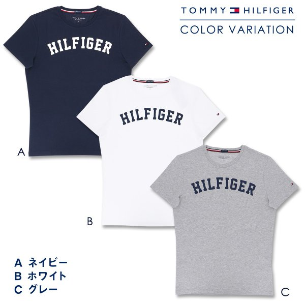 TOMMY HILFIGER|トミーヒルフィガー Tシャツ クルーネック ロゴ 半袖 オーガニックコットン 100% メンズ ポイント10倍|glanage|02