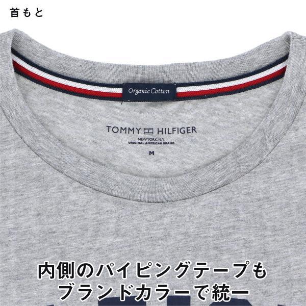 TOMMY HILFIGER|トミーヒルフィガー Tシャツ クルーネック ロゴ 半袖 オーガニックコットン 100% メンズ ポイント10倍|glanage|03
