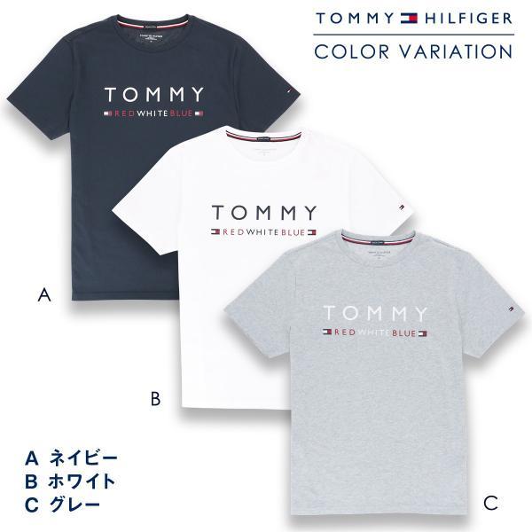 TOMMY HILFIGER トミーヒルフィガー 【COTTON ICON】 CN TEE SS LOGO FLAG コットン100% ロゴ 半袖 Tシャツ メンズ ポイント10倍|glanage|02
