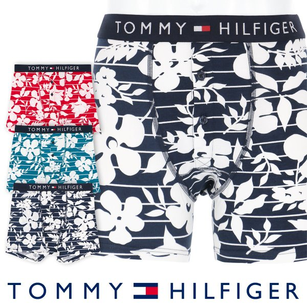 TOMMY HILFIGER トミーヒルフィガー TOMMY ORIGINAL COTTON BUTTONFLY BOXER BRIEF FLOWER PRINT ボクサーパンツ ポイント10倍 glanage