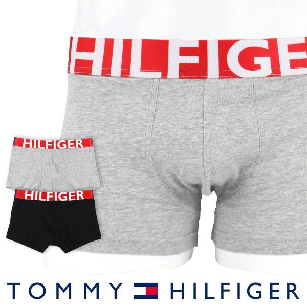 TOMMY HILFIGER トミーヒルフィガー ボクサーパンツ HILFIGER COTTON STRECH TRUNK ヒルフィガー コットンストレッチ ローライズ トランク ポイント10倍|glanage