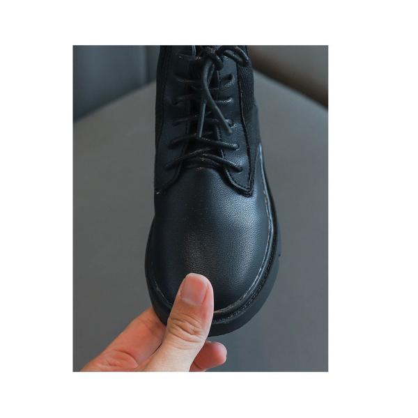 ブーツ キッズ マーチンブーツ ショートブーツ ショート 靴 キッズシューズ ジュニア 女の子 シューズ 子供靴 おしゃれ ローヒール 秋 冬 15.5-22.0cm|glanz-shop|02
