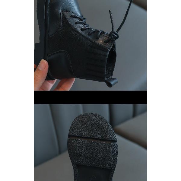 ブーツ キッズ マーチンブーツ ショートブーツ ショート 靴 キッズシューズ ジュニア 女の子 シューズ 子供靴 おしゃれ ローヒール 秋 冬 15.5-22.0cm|glanz-shop|11
