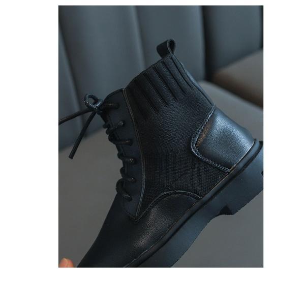 ブーツ キッズ マーチンブーツ ショートブーツ ショート 靴 キッズシューズ ジュニア 女の子 シューズ 子供靴 おしゃれ ローヒール 秋 冬 15.5-22.0cm|glanz-shop|03